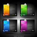 Web card design element Stock Images