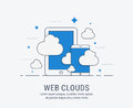 Web clouds vector illustration for web