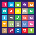 Web color icon set of colored icons for your design Stock Photography