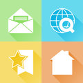 Web colorful flat icons set of about Royalty Free Stock Photography