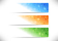 Web colorful geometrical headers collection clip art Stock Images