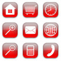 Web commerce icons set Stock Image