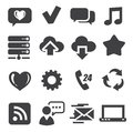 Web and communication icons Royalty Free Stock Photography