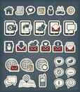 Web communication icons editable set Stock Images