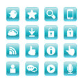 Web communication icons internet set vector Royalty Free Stock Image