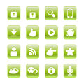 Web communication icons internet vector set Stock Photo
