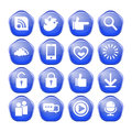 Web communication icons internet vector set Royalty Free Stock Image