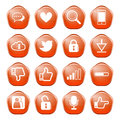Web communication icons internet vector set Royalty Free Stock Photos