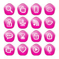 Web communication icons internet vector set Royalty Free Stock Images