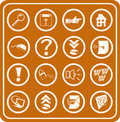 Web and Computing icons Royalty Free Stock Photography