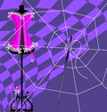 Web and craft abstract image of sewing womens dress Royalty Free Stock Images