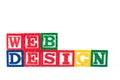 Web Design - Alphabet Baby Blocks on white Royalty Free Stock Photo
