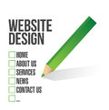Web design check mark selection illustration over white Royalty Free Stock Images