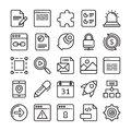 Web Design and Development Colored Vector Icons 3 Royalty Free Stock Photo