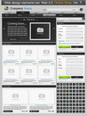Web design elements set. Online shop 1 Stock Photo