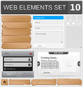 Web design elements set vector illustration Royalty Free Stock Image