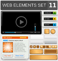 Web design elements set vector illustration Royalty Free Stock Photo