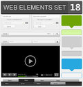 Web design elements set vector illustration Royalty Free Stock Photos