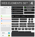 Web design elements set vector illustration Royalty Free Stock Photography