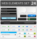 Web design elements set vector illustration Stock Images