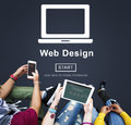 Web Design Homepage Internet layout Software Concept Royalty Free Stock Photo