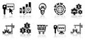 Web-design icon set Stock Photography