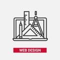 Web Design - modern vector line design icon.