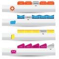 Web design Navigation menu bars Royalty Free Stock Photo