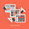 Web design plat du concept de construction f Photographie stock libre de droits
