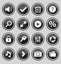 Web design round buttons black set vector illustration Royalty Free Stock Image