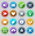 Web design round buttons set vector illustration Stock Photography