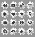 Web design round buttons white set vector illustration Stock Image