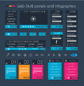 Web Design Stuff: price panel and infographic Stock Photo