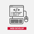 Web Develop - modern essential vector line design icon.