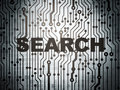 Web development concept: circuit board with Search Stock Images