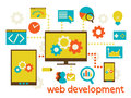 Web development flat modern illustration design vector eps Stock Photos