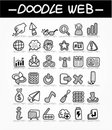 Web doodle icon set Royalty Free Stock Images