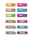 Web element buttons or links vector eps Stock Photography