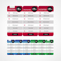 Web Element - Pricing Table Stock Photography