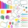 Web elements design scrapbook set Royalty Free Stock Photo