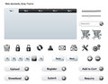 Web elements grey theme essential including buttons tabs and icons vector perfect for mobile apps Stock Photo