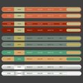 Web Elements Navigation Bar.vector illustration. Stock Photography