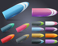 Web Elements Pencil Style Vector Button Set Royalty Free Stock Photo