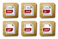 Web files icons | Cardboard series Stock Photo