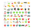Web glossy icons set of Stock Photography