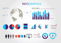 Web graphics a set of designed and icons Royalty Free Stock Images