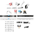 Web graphics a set of designed and icons Royalty Free Stock Photo