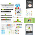 Web graphics a set of designed and icons Stock Images