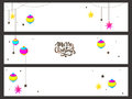 Web header or banner set for Christmas. Royalty Free Stock Photo