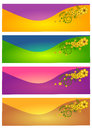 Web header banner set Royalty Free Stock Photo